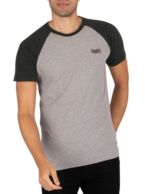 Superdry OL Baseball T-Shirt - Collective Grey Marl