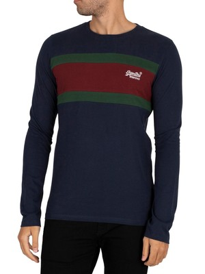 Superdry OL Engineered Longsleeved T-Shirt - Nautical Navy