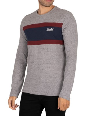 Superdry OL Engineered Longsleeved T-Shirt - Collective Grey Grit