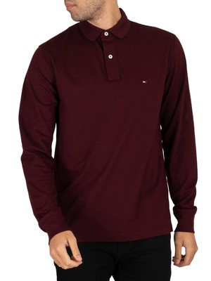 Tommy Hilfiger Regular Longsleeved Polo Shirt - Deep Burgundy
