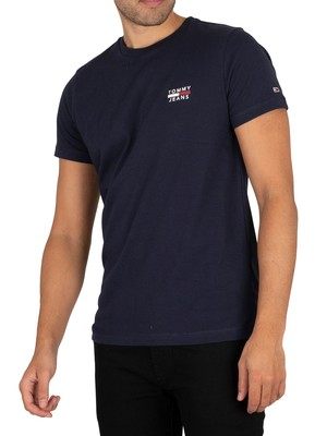 Tommy Jeans Chest Logo T-Shirt - Twilight Navy