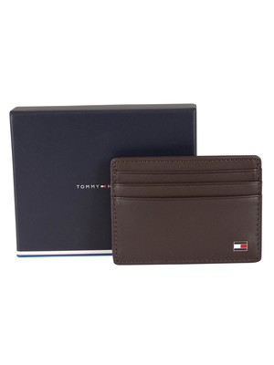 Tommy Hilfiger Eton Leather Card Holder - Brown