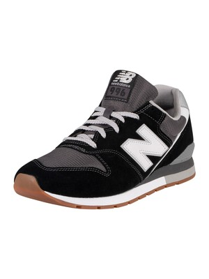 New Balance 996 Suede Trainers - Black/Grey