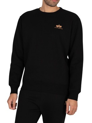 Alpha Industries Basic Foil Print Sweatshirt - Black/Gold