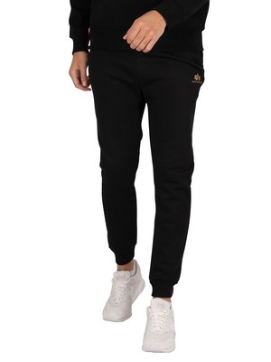 Alpha Industries Basic SL Foil Print Joggers - Black/Yellow Gold