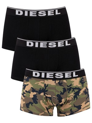 Diesel 3 Pack Damien Trunks - Camo/Black