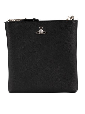Vivienne Westwood Square Crossbody Bag - Black/Silver