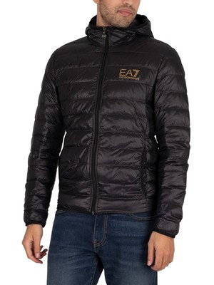 EA7 Woven Down Jacket - Black