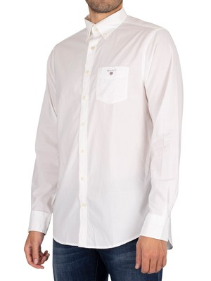 GANT The Broadcloth Regular Shirt - White