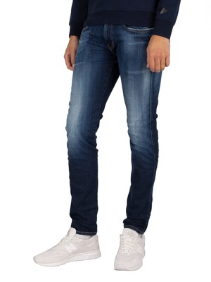 Replay Anbass Hyperflex Bio Jeans - Dark Blue