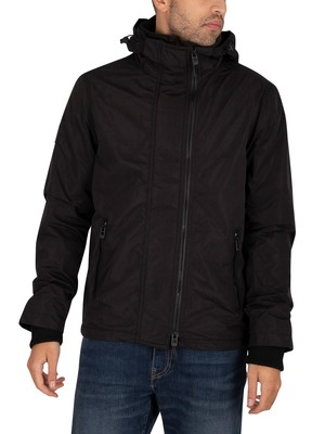 Superdry Microfibre Windcheater Jacket - Black