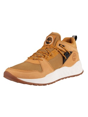 Timberland Solar Wave Low Leather Mesh Trainers - Wheat Nubuck