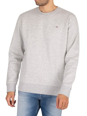Tommy Jeans Regular Fleece Sweatshirt - Light Grey Heather