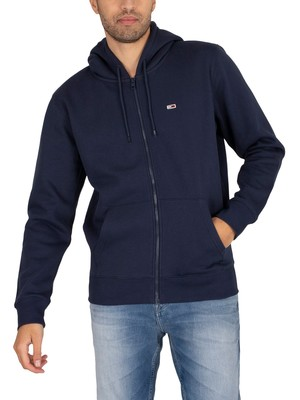 Tommy Jeans Regular Fleece Zip Hoodie - Twilight Navy