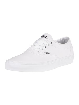 Vans Doheny Decon Tumble Leather Trainers - White/White