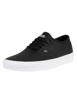 Vans Doheny Decon Tumble Leather Trainers - Black/White