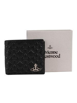 Vivienne Westwood George Man Billfold Leather Wallet - Black