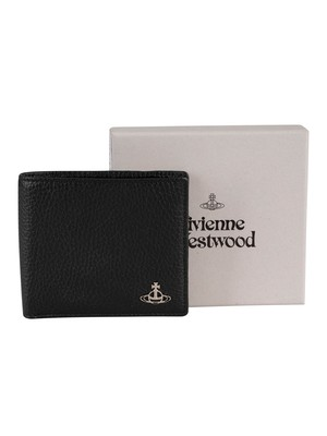 Vivienne Westwood Millano Man Billfold Leather Wallet - Black