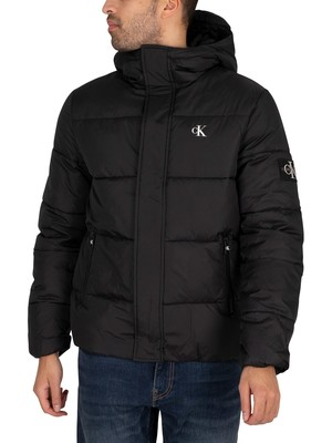 Calvin Klein Jeans Hooded Puffer Jacket - Black
