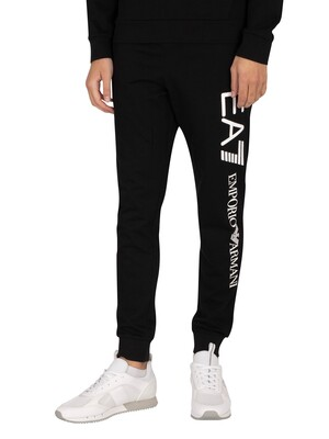 EA7 Side Logo Joggers - Black