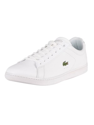 Lacoste Carnaby BL21 1 SMA Leather Trainers - White/White
