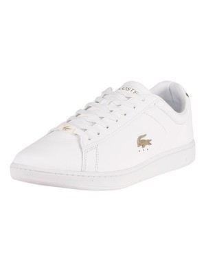 Lacoste Carnaby Evo 0721 3 SMA Leather Trainers - White/White
