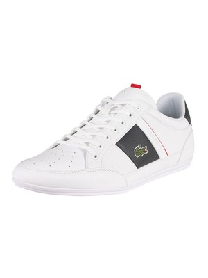 Lacoste Chaymon 0721 1 CMA Synthetic Leather Trainers - White/Dark Grey