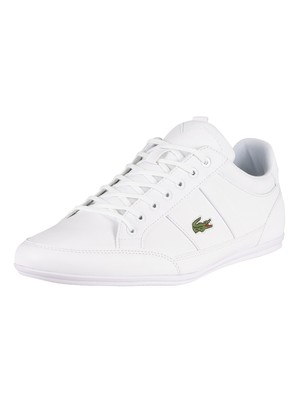 Lacoste Chaymon BL21 1 CMA Synthetic Leather Trainers - White/White