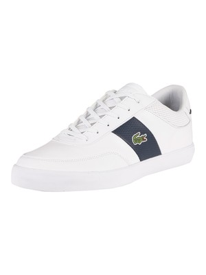 Lacoste Court-Master 0721 1 CMA Leather Trainers - White/Navy