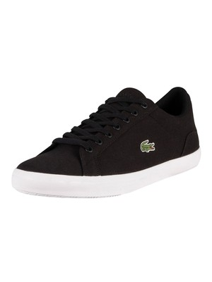 Lacoste Lerond BL 2 CAM Canvas Trainers - Black