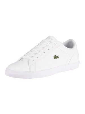 Lacoste Lerond BL21 1 CMA Leather Trainers - White/White
