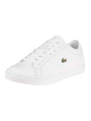Lacoste Straightset BL 1 CAM Leather Trainers - White