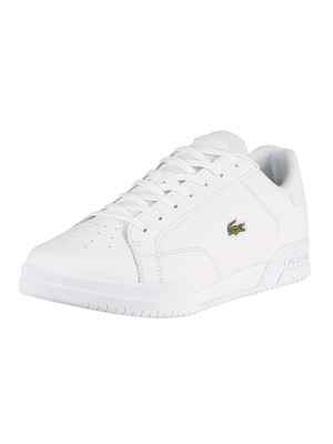 Lacoste Twin Serve 0721 2 SMA Leather Trainers - White/White