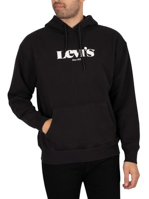 Levi's Relaxed Graphic Pullover Hoodie - Caviar