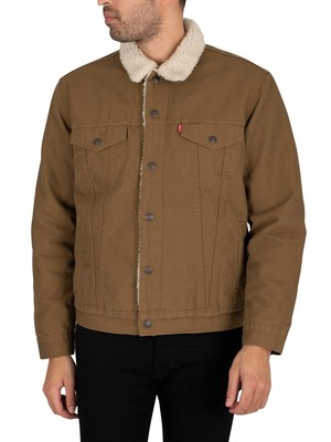 Levi's Type 3 Sherpa Trucker Jacket - Cougar Canvas