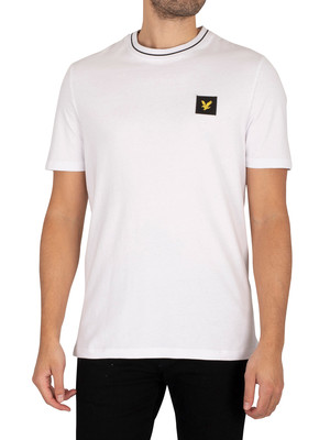 Lyle & Scott Relaxed Tipped T-Shirt - White