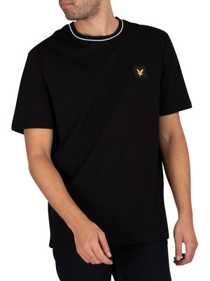 Lyle & Scott Relaxed Tipped T-Shirt - Jet Black