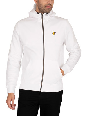 Lyle & Scott Softshell Jersey Zip Hoodie - White