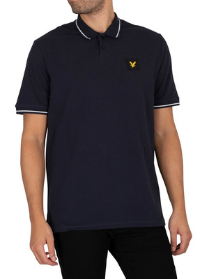 Lyle & Scott Tipped Relaxed Polo Shirt - Dark Navy