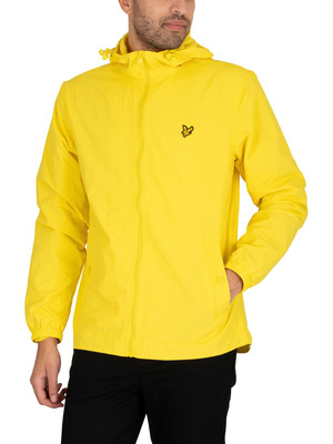 Lyle & Scott Zip Through Hooded Jacket - Buttercup Yellow