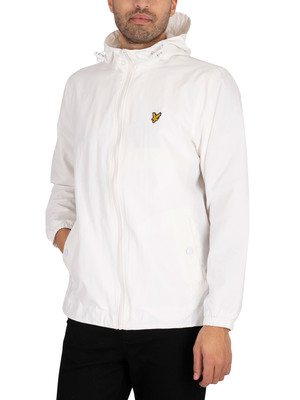 Lyle & Scott Zip Through Hooded Jacket - White