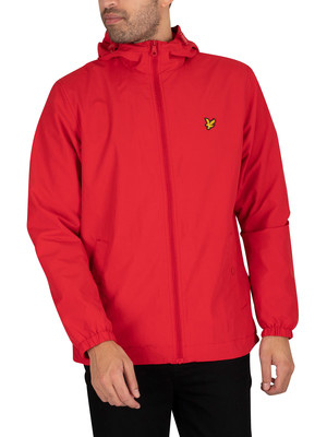 Lyle & Scott Zip Through Hooded Jacket - Gala Red