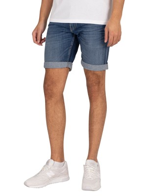 Replay 573 Bio Denim Shorts - Dark Indigo