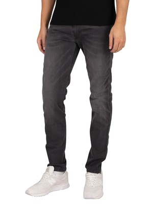 Replay Anbass Hyperflex Re-Used Jeans - Black Stretch Denim