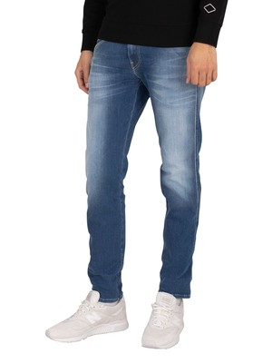 Replay Anbass Hyperflex Re-Used Jeans - Blue Stretch Denim