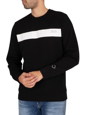 Replay Graphic Sweatshirt - Black/White