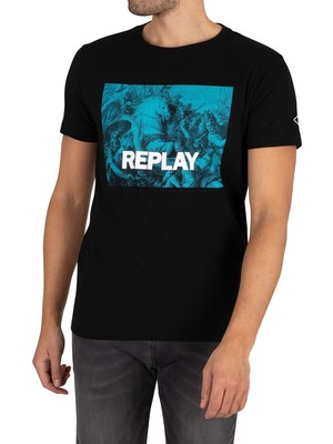 Replay Graphic T-Shirt - Black