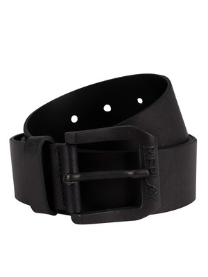 Replay Leather Belt - Black