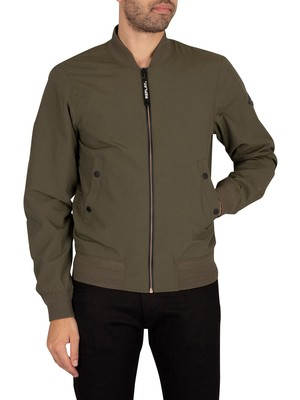 Replay Logo Bomber Jacket - Green