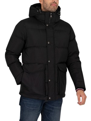Tommy Hilfiger Hooded Down Jacket - Black
